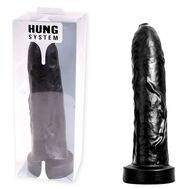 Dildo Uncut XXL Hung System Toys Preto