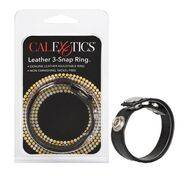 Anel em Couro Calexotics 3-Snap Ring