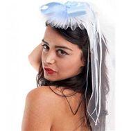 Véu de Noiva Azul e Branco