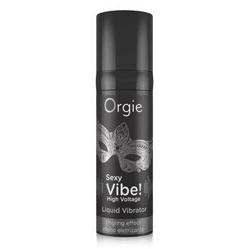 Vibrador Liquido com Efeito Extra Forte Orgie Sexy Vibe! High Voltage 15 ml.