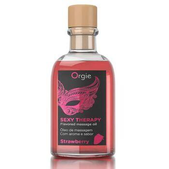 Óleo de Massagem Afrodisíaco com Efeito Calor Orgie Sexy Therapy - Morango 100 ml