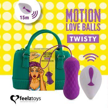 Bolas Vaginais com Vibração Twisty Motion Love Balls