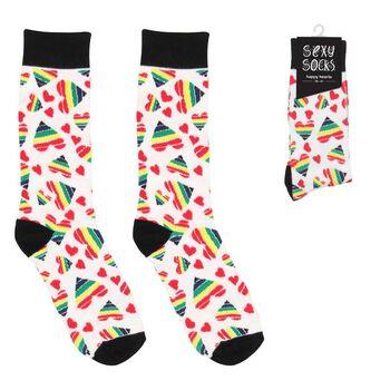 Meias Sexy Sock Happy Hearts