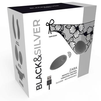 Cueca com Vibração Zara Black&Silver